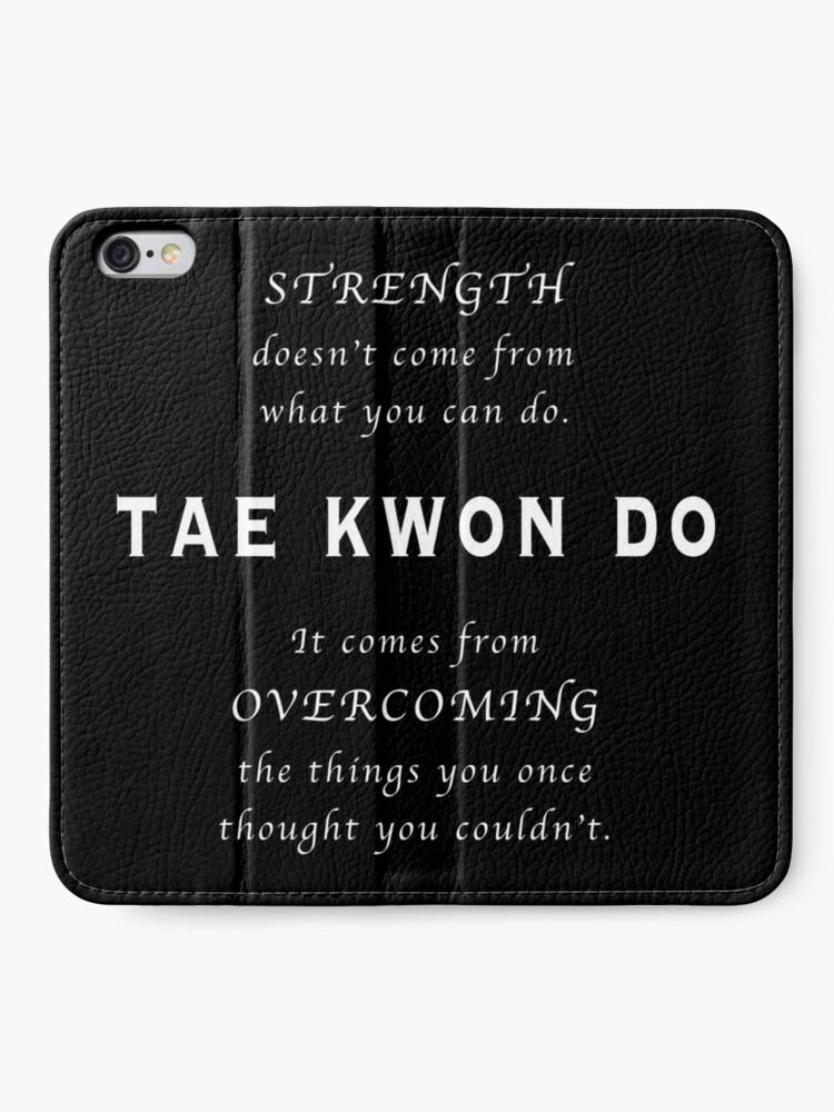 Vista alternativa de Fundas tarjetero para iPhone Cita Inspirada de Tae Kwon Do