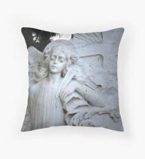 Cemetery Scribe Throw Pillow