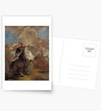 An Officer on Horseback by Joshua Reynolds Postcards