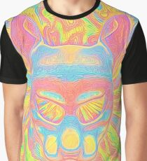 Abstract Mask Graphic T-Shirt