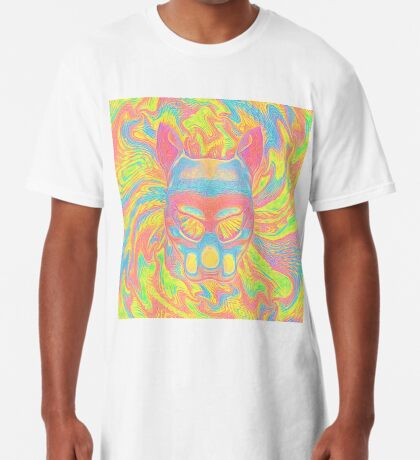 Abstract Mask Long T-Shirt