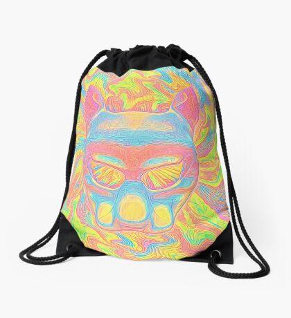 Abstract Mask Drawstring Bag