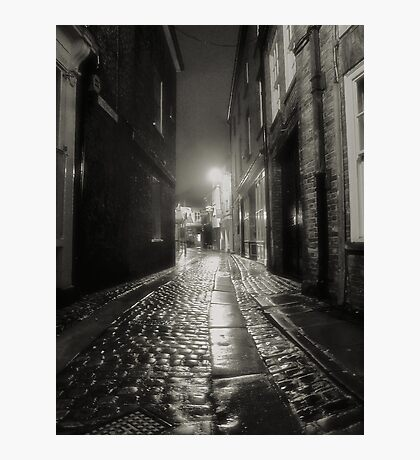 Cobbles in the rain Photographic Print