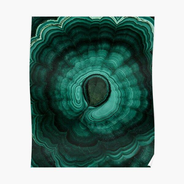 Earth treasures - malachite Poster