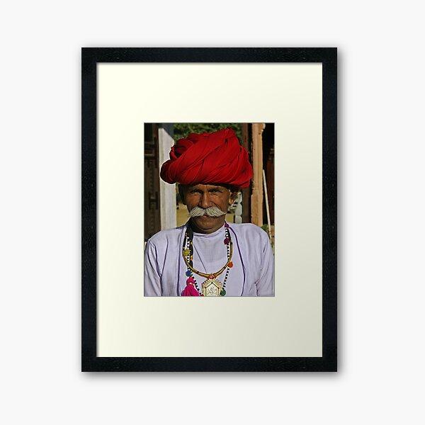 Indian man with a big moustache - India Impression encadrée