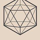 Clear Icosahedron (light background) by hexagrahamaton