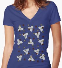 Ontario Autumn Women's Fitted V-Neck T-Shirt