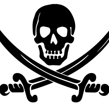 Pirate Logo (Black) by DarkHorseDesign