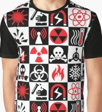 Hazard Danger Icons Graphic T-Shirt