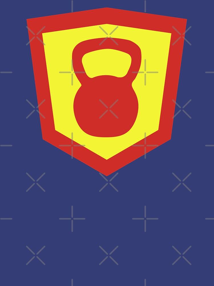 Kettlebell Knight - Red/Yellow Weightlifter Design by ramiro