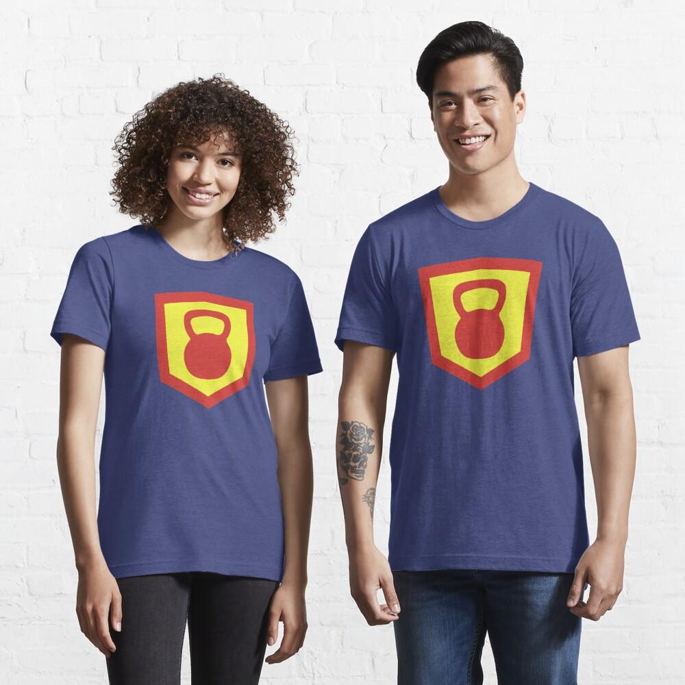 Kettlebell Knight - Red/Yellow Weightlifter Design Essential T-Shirt