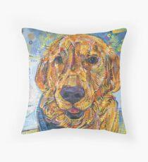 Golden retriever painting - 2016 Throw Pillow