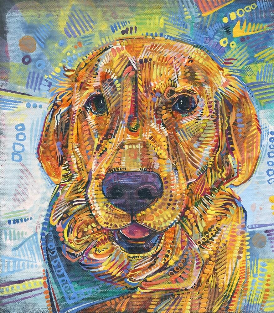 Golden Retriever Painting - 2016 by Gwenn Seemel