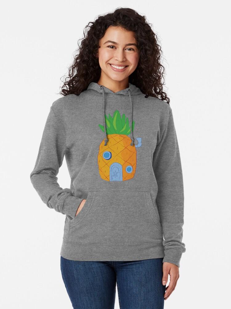 Alternative Ansicht von Spongebob Ananas Leichter Hoodie