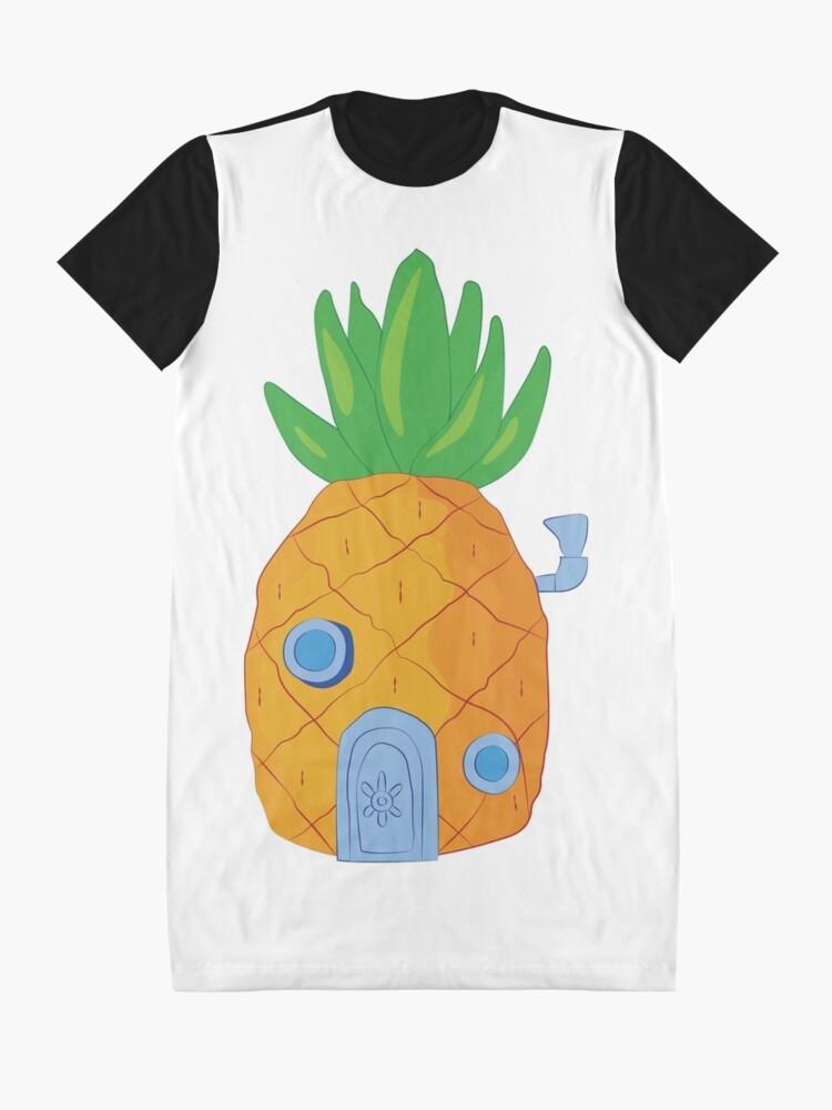 Alternative Ansicht von Spongebob Ananas T-Shirt Kleid