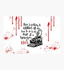Bloodwrite Photographic Print