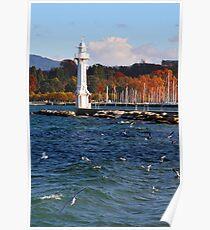 white lighthouse Poster