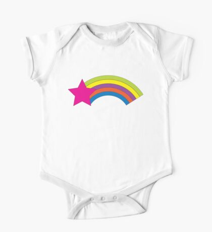 Pink Star and Colorful Rainbow Kids Clothes