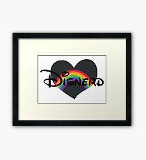Disnerd Rainbow Heart Framed Print