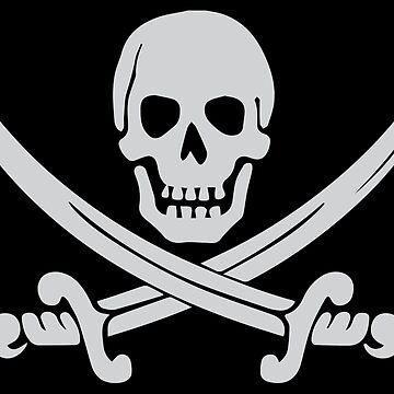 Pirate Logo (White) by DarkHorseDesign