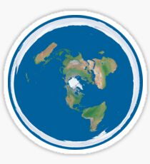 Flat Earth Map Sticker