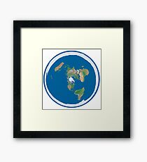 Flat Earth Map Framed Print