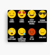 Video Game Emojis - Emoticons Canvas Print