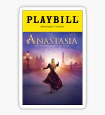 Anastasia Playbill Sticker