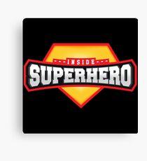 Superhero inside emblem design Canvas Print