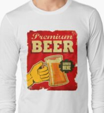 Premium Beer Service here Vintage Rusty Antique Red T-Shirt T-Shirt