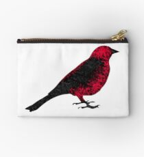 Blurred Scarlet Tanager Zipper Pouch