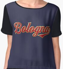 Bologna - Italy - Vintage Style Sports Typography Chiffon Top