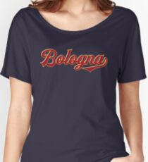 Bologna - Italy - Vintage Style Sports Typography Women's Relaxed Fit T-Shirt
