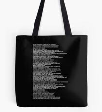 Nikes Shirt Jenny Holzer Truisms Blonde Tote Bag