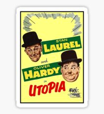 LAUREL and HARDY : Vintage Utopia Movie Advertising Print Sticker