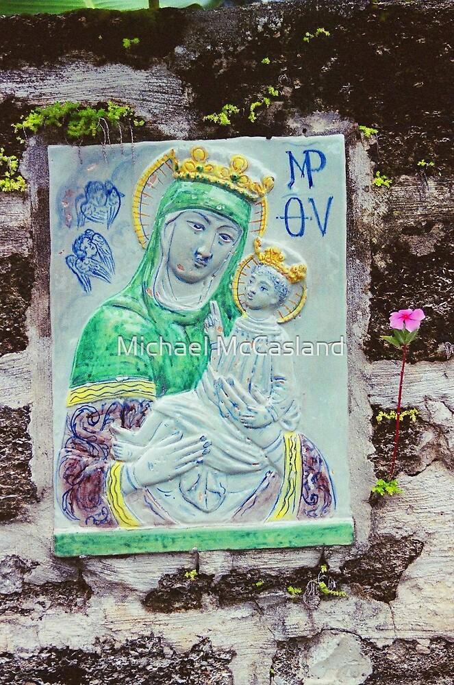 Madonna Wall Tile by Michael McCasland
