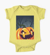 Halloween Pumpkin in the Forest One Piece - Short Sleeve