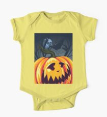 Halloween Pumpkin in the Forest 3 One Piece - Short Sleeve