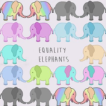 Equality elephants by DAMMIT-ANDERSON