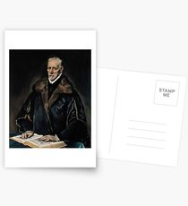 Portrait of Dr. Francisco de Pisa by El Greco Postcards