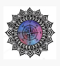 Compass Mandala Photographic Print