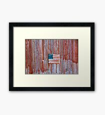 Rural Patriot Framed Print