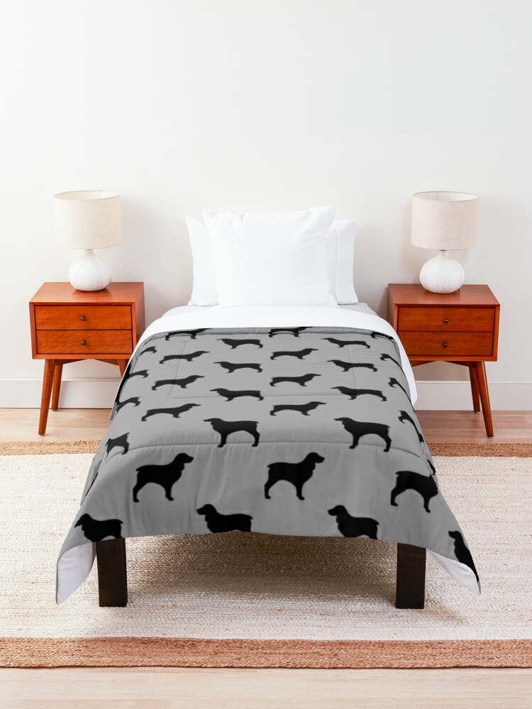 Alternate view of Boykin Spaniel Silhouette(s) Comforter