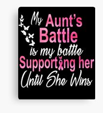 Breast Cancer Awareness Aunt Canvas Print