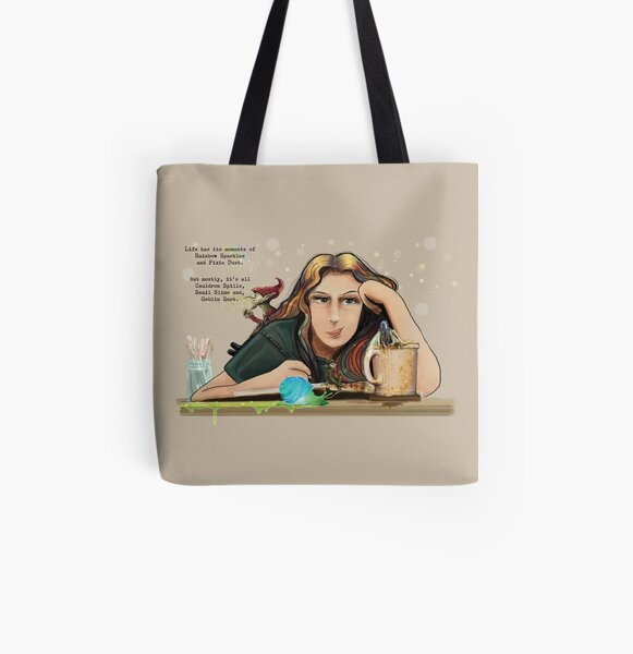 Life -The Reality and the Fantasy All Over Print Tote Bag