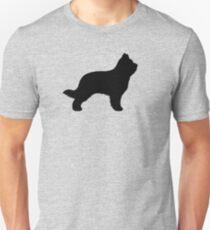 Briard Dog Silhouette(s) T-Shirt