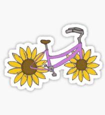Colorful Sunflower Beach Cruiser Bike Sticker