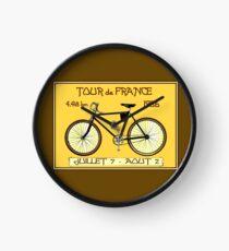 TOUR DE FRANCE ; Vintage Bicycle Race Print Clock
