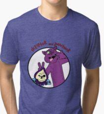 Skeletor and Panthor Tri-blend T-Shirt