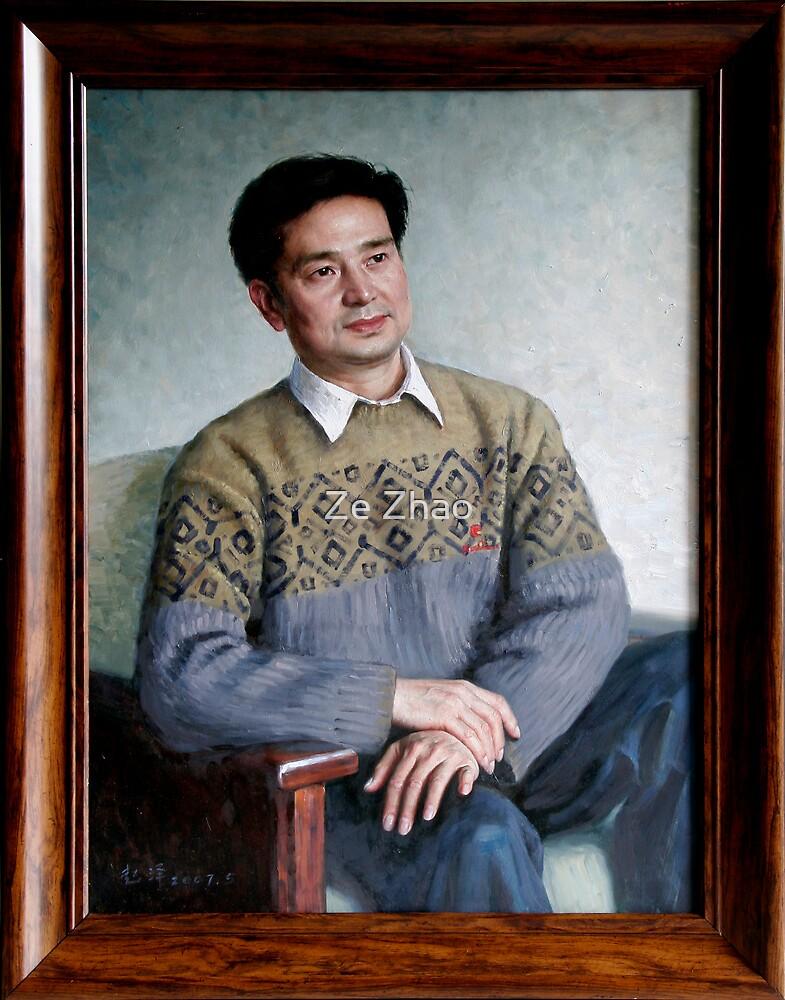 A Friend - Portrait 1 by Ze Zhao
